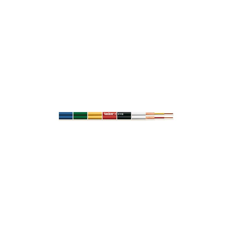 TASKER C118 - Cable paralelo doble coaxial divisible 2 x 0,14 mm²