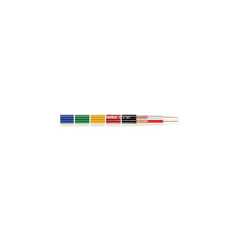 TASKER C121 - Cable paralelo doble coaxial divisible 2 x 0,25 mm²