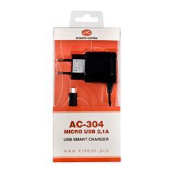 ACOUSTIC CONTROL AC 304, cargador universal micro-usb de 2,1 amp