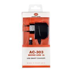 ACOUSTIC CONTROL AC 303, cargador universal micro-usb de 1 amp
