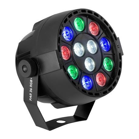 Acoustic Control PAR 36 RGB+W, Folo de led mezcla de 4 colores