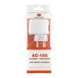 ACOUSTIC CONTROL AC 105, transformador a 2 USB