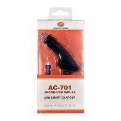 ACOUSTIC CONTROL AC 701, cargador Micro-USB para coche