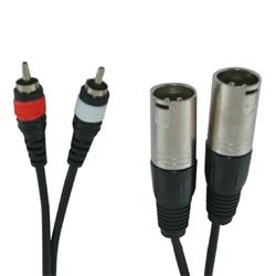 TUC 029 / 6M Audiotech cable 2 XLR macho a 2 RCA Cable de audio profesional