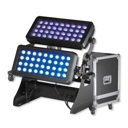 PRO LIGHT City wash 750 FC, bañador de color para exteriores con flight case