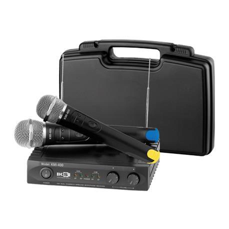 KS TECHNOLOGY KMI 400 / HAND Micrófono inalámbrico doble VHF con 4 frecuencias