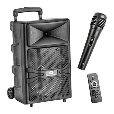 AC HOME 12 BT Altavoz bluetooth para karaoke de 50W con un micrófono y mando distancia