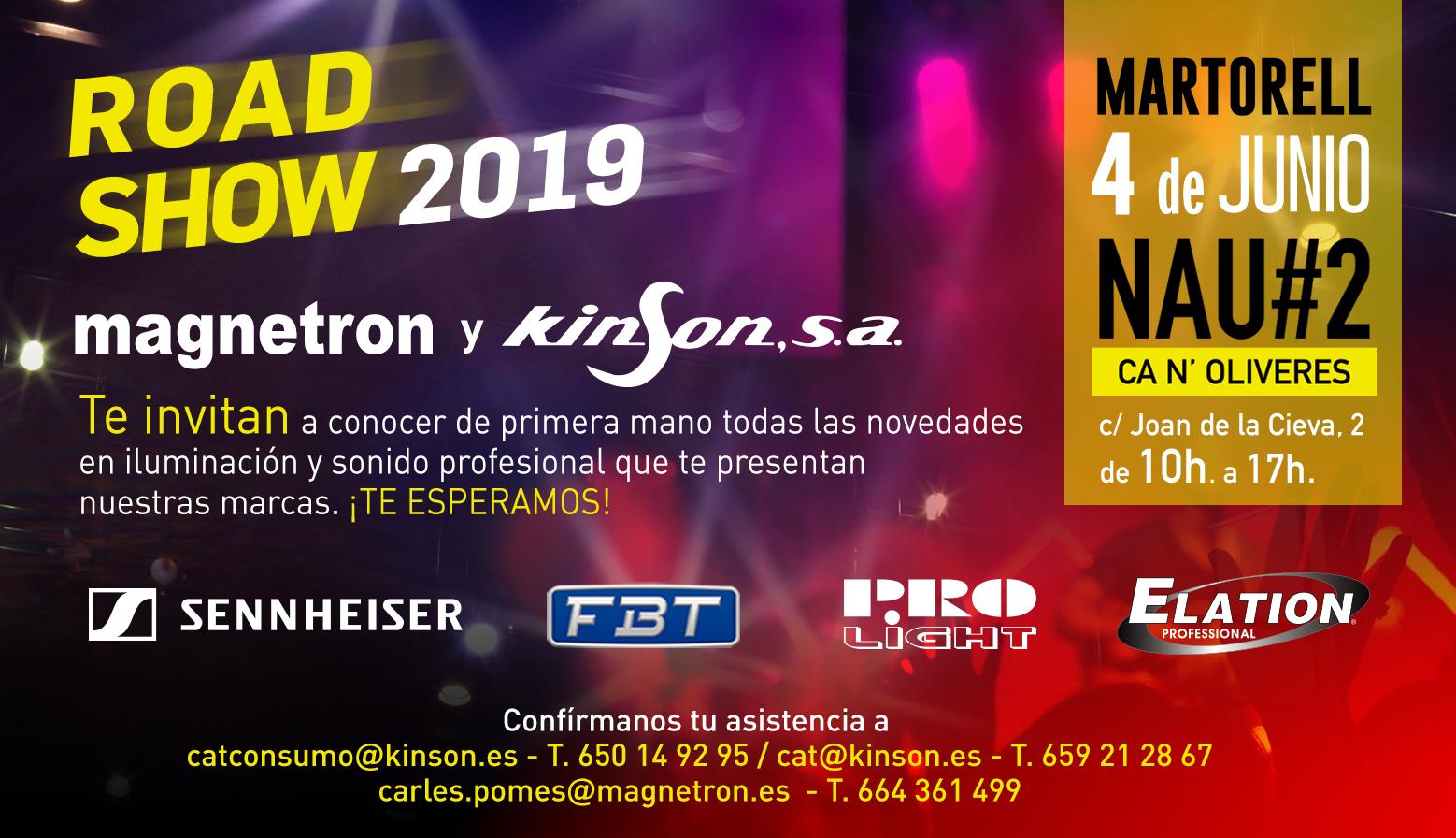 Road Show magnetron y kinson